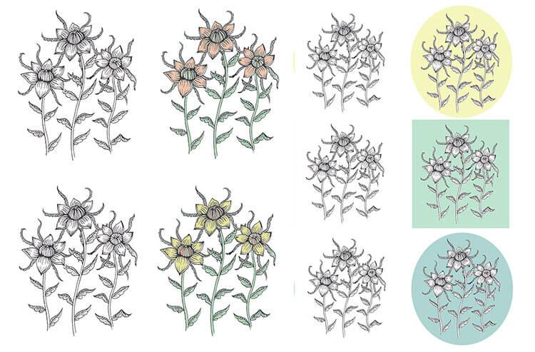схемы цветы 1