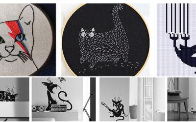 Вышивка кошка крестом и гладью: 40 + схем и фото бесплатно