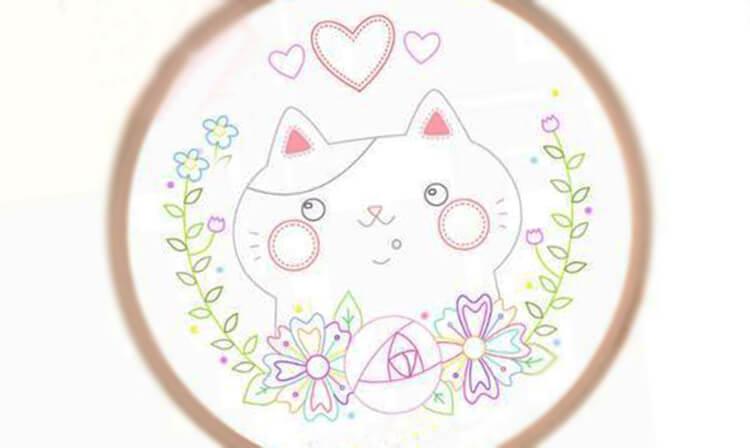 вышивка кошка 2