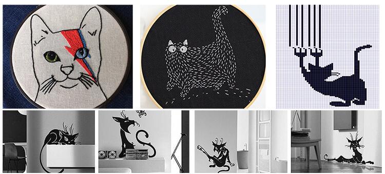 Вышивка кошка крестом и гладью: 40 + фото и схемы бесплатно