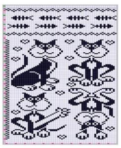 схема вышивка кошки крестом 5