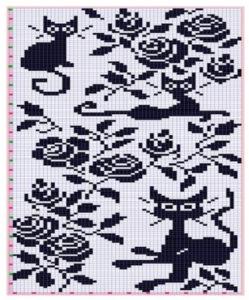 схема вышивка кошки крестом 6