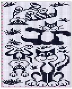 схема вышивка кошки крестом 8