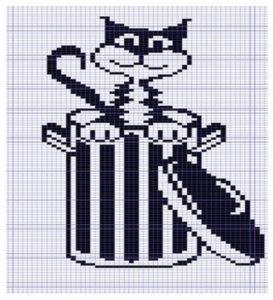 схема вышивка кошки крестом 10