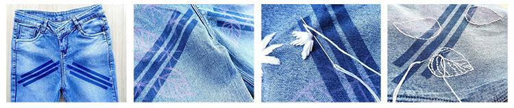 вышивка на джинсах 1