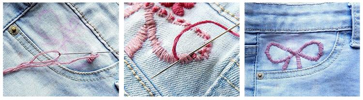 вышивка на джинсах 3