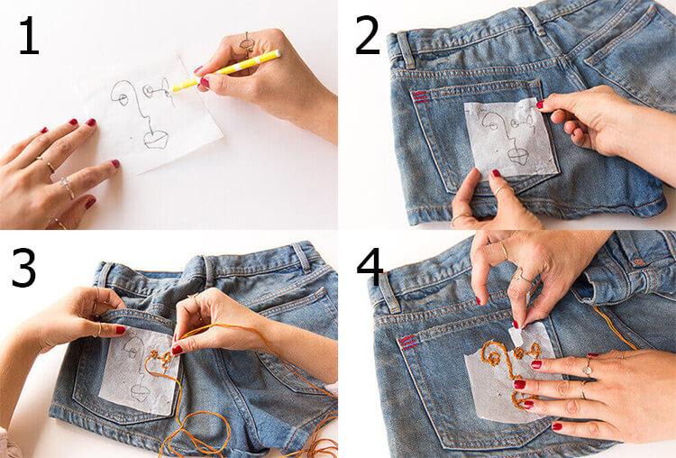 Как вышивать на одежде 21