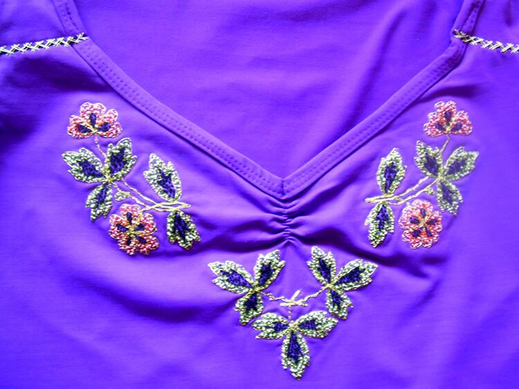 Как вышивать на одежде 16