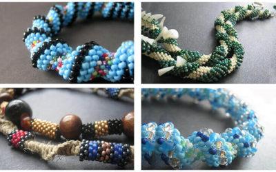 Плетение жгута из бисера: 5 + схем для начинающих