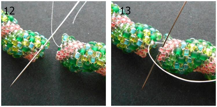 плетение жгута из бисера 6