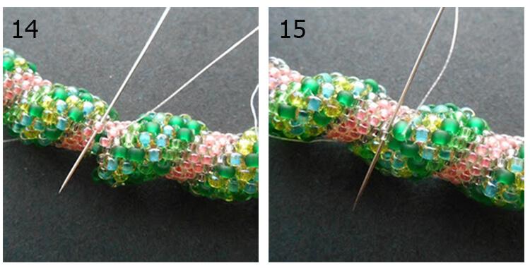 плетение жгута из бисера 7