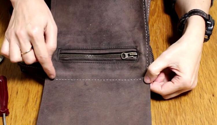 как сшить сумку из кожи 36