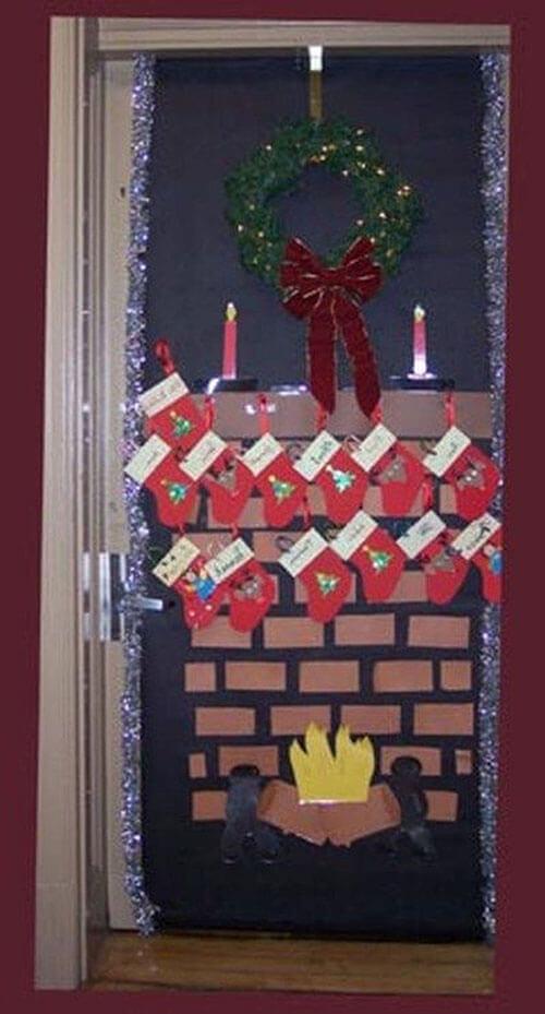 украшаем дверь 4