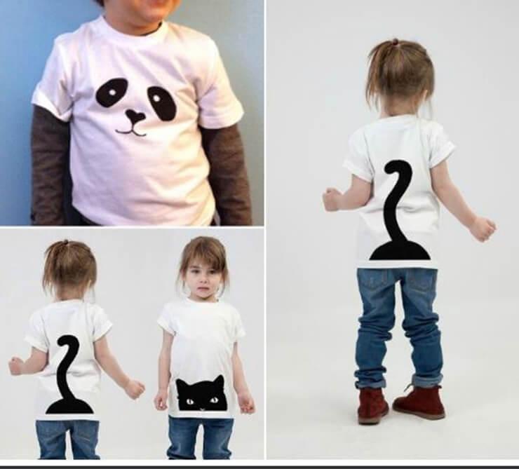 украшаем детскую футболку рисунком