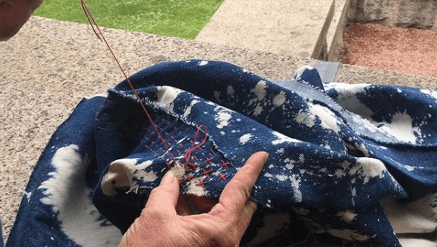 вышивка в технике боро