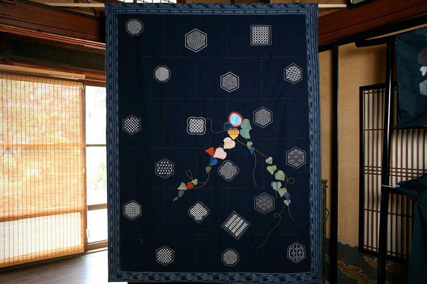японская вышивка одеяло